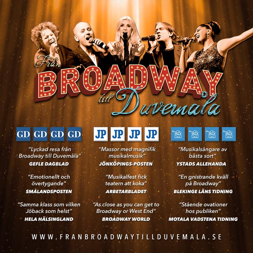 Från Broadway till Duvemåla Höstturne